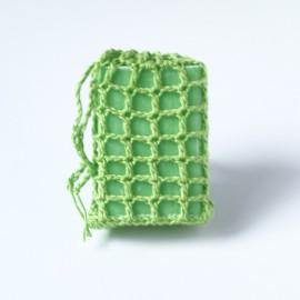 Horgolt szappantartó zsák