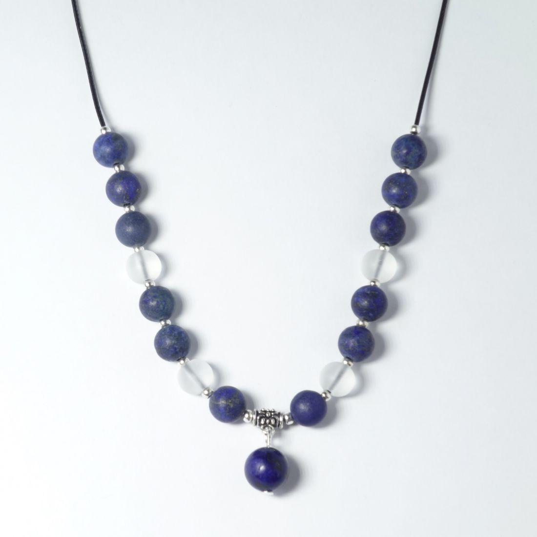 Lápisz lazuli hegyikristállyal