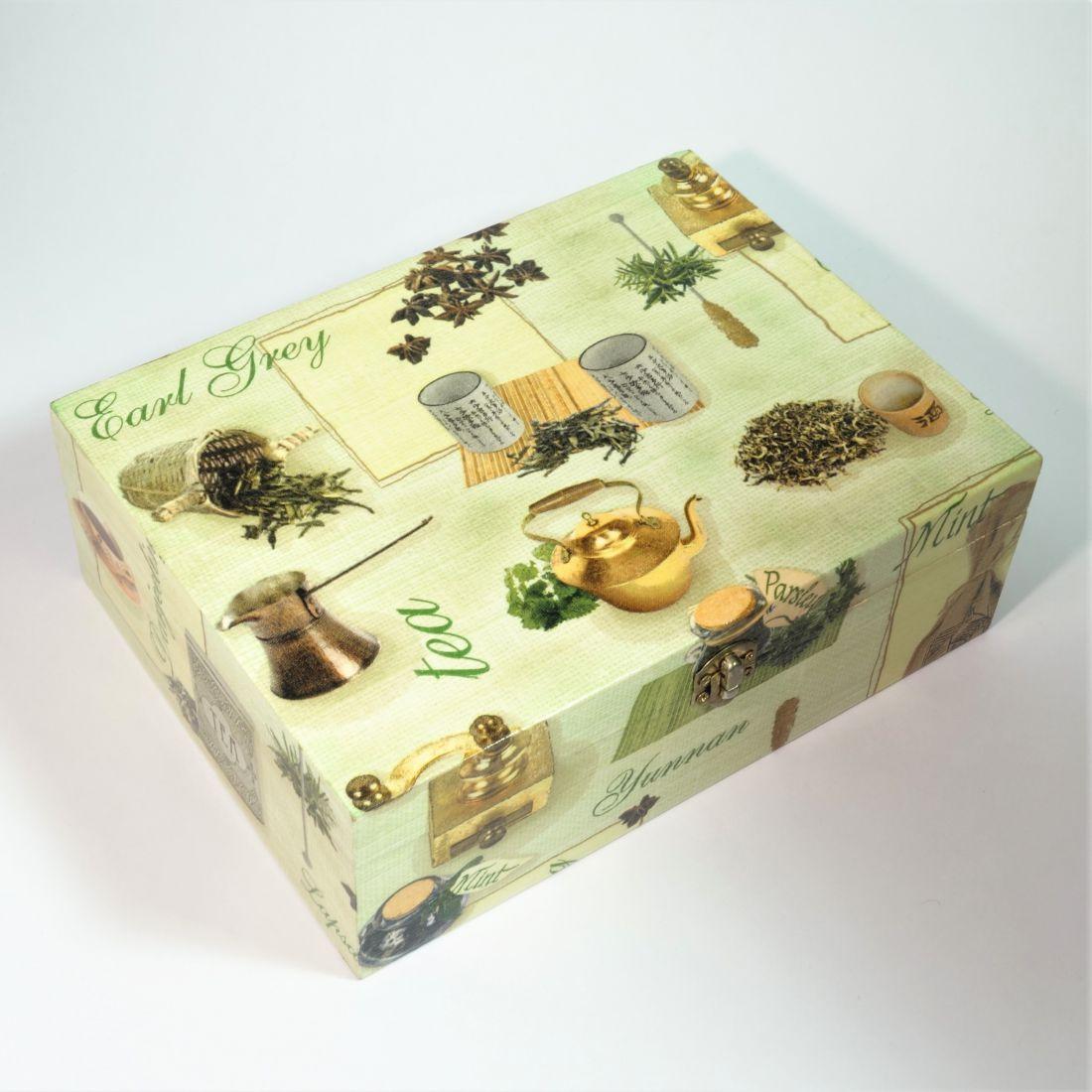Teafilter tartó doboz 6 rekesszel
